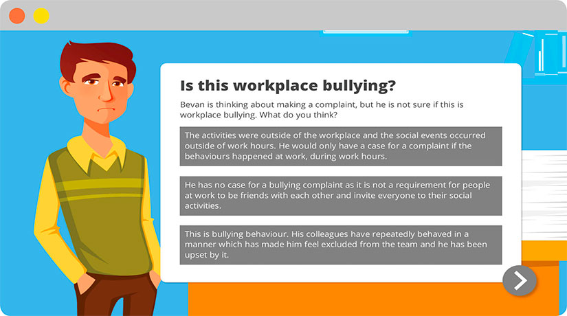 Workplace Bullying online training course Screenshot 1