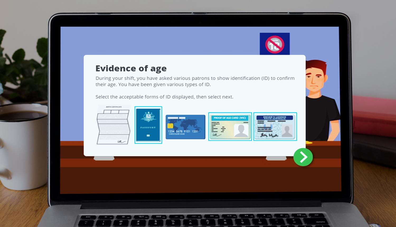 RSA SA Recap Online Interactive Staff Training Splash Course Laptop View
