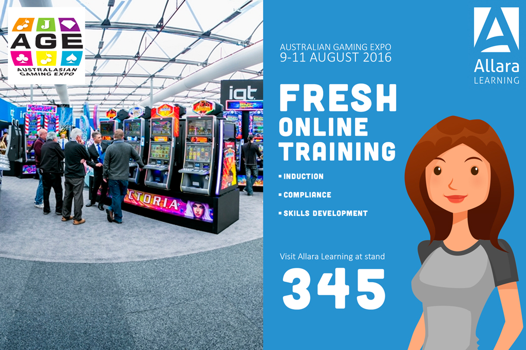 Allara Learning attending this years' Australasian Gaming Expo